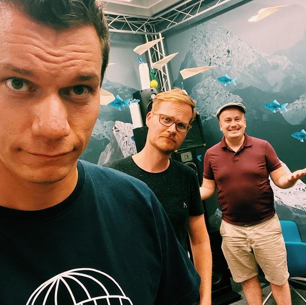 Dennis, Herr Pähler und Daniel nach der letzten Sendung
