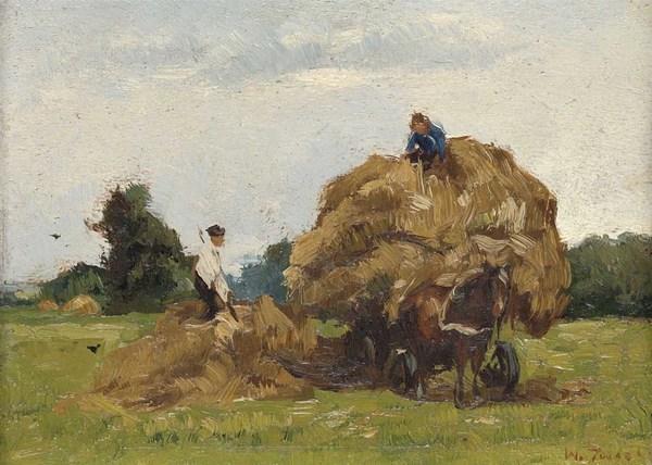 'Hooiwagen' - olieverf op paneel: Willem de Zwart (herkomst: coll. Rijksmuseum Amsterdam)