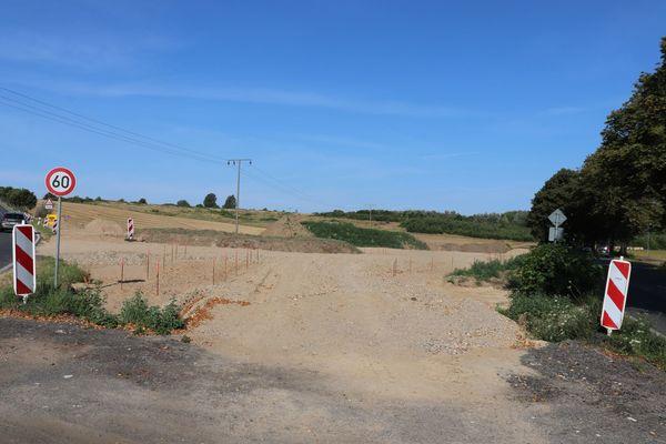 Kreisverkehr Wittenbeck wird gebaut (Foto: Cora Meyer)