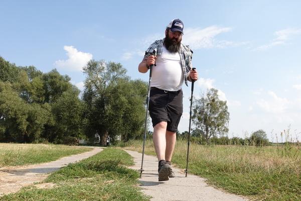 Torben Lindemann nach rund 25 Kilometern Marsch. Foto: Peter Degener