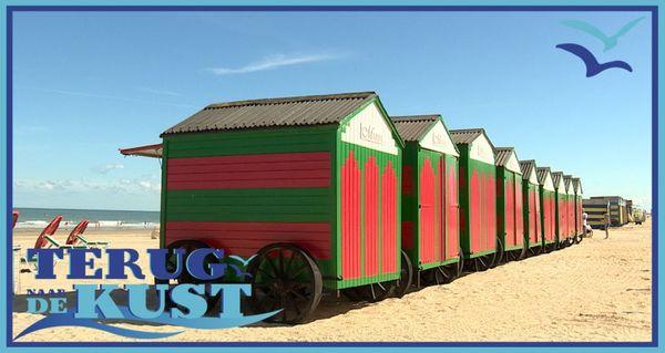 Rendez-vous sur la côte : avec les cabines de plage -  Terug naar de kust: badkarhouders