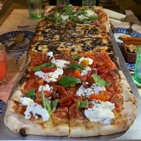 I LOVE BURRATA. Shared this 1M long crust pizza with 3 flavours with 4 others on one of my birthday surprises. The pizza was so good! Incase anyone is wondering, this is Publico in Singapore.