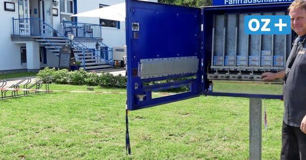 """Schlauch-Automat in Nienhagen: Hilfe für """"platte"""" Fahrradtouristen"""