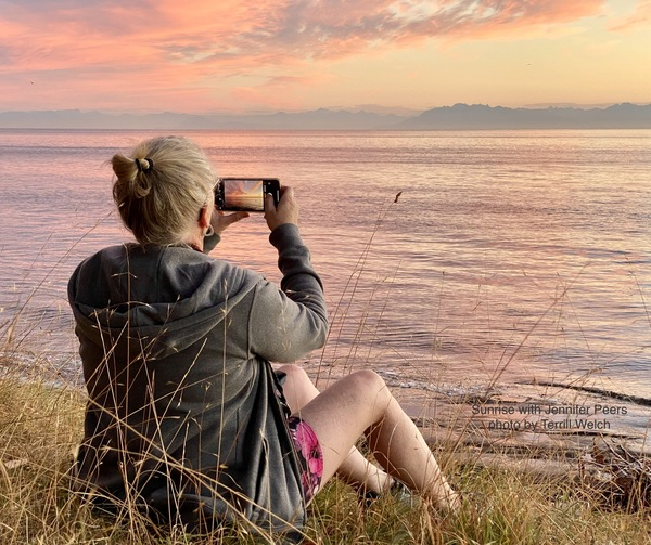 Jennifer Peers capturing sunrise by Terrill Welch