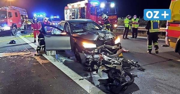 """Vater des eingeklemmten Motorradfahrers auf A20 bei Lüdersdorf: """"Er hatte ein Rudel Schutzengel"""""""