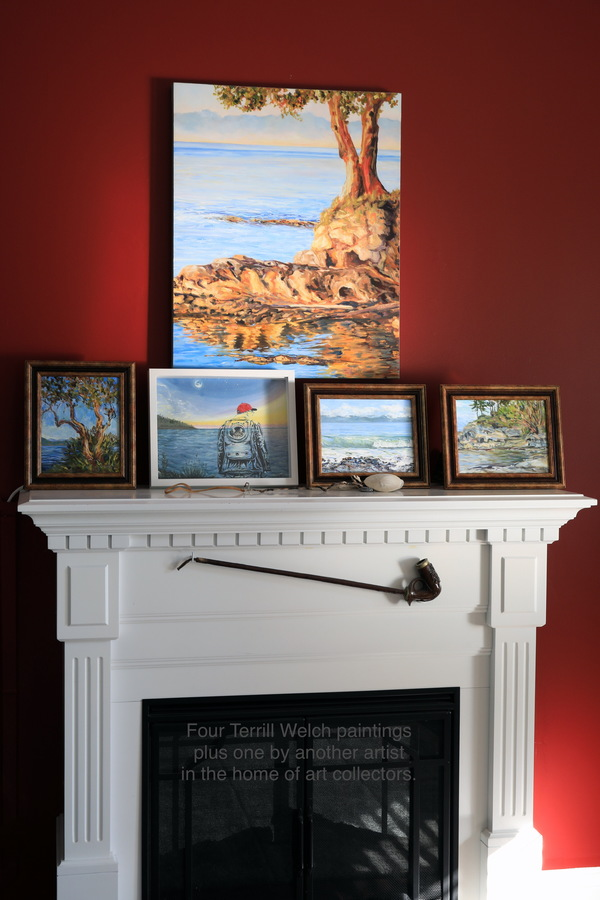 Terrill Welch paintings in the home of art collectors.