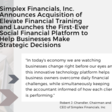 Simplex Financials, Inc. Announces Acquisition of Elevate Financial Training and Launches the First-Ever Social Financial Platform to Help Businesses Make Strategic Decisions - insightfulaccountant.com