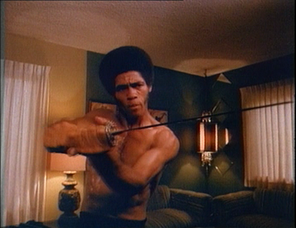 "Jim Kelly in ""Afro Samurai"""