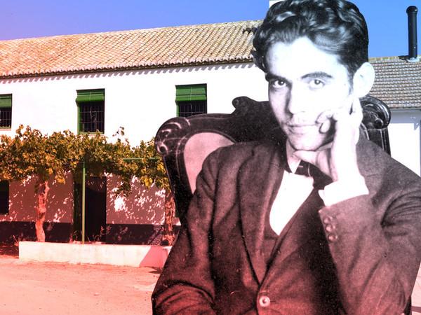 Composición de Lorca frente al cortijo de Adamuz realizado por Vanity Fair