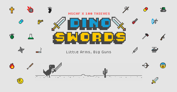Google's Dinosaur browser game gets a dope mod that includes double swords