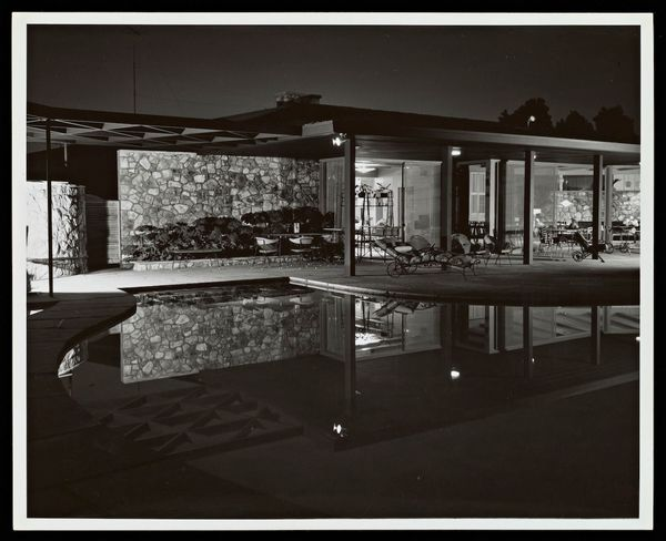 Lucille Ball and Desi Arnaz House, Palm Springs, Paul R. Williams architect, built 1954-55 (photo 1955) (photo by Julius Shulman, Gelatin Silver Print, © J. Paul Getty Trust. Getty Research Institute, Los Angeles)