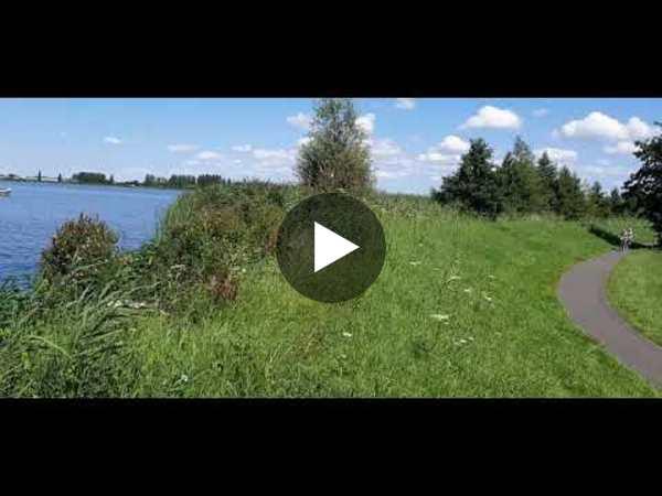 WOUBRUGGE - Fietsen van Koudekerk naar Woubrugge via Hoogmade (video)