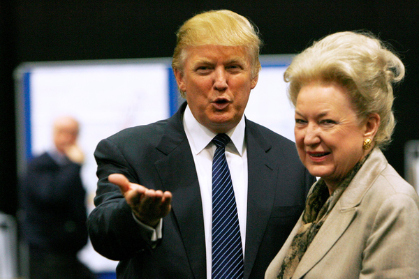 Donald Trump en zijn zus Maryanne Trump Barry