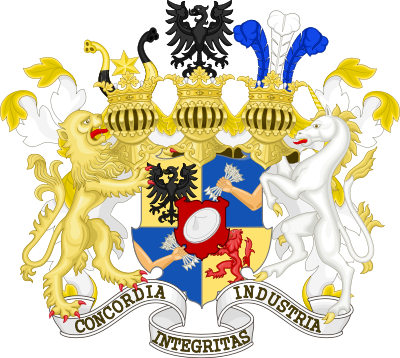 Coat of arms granted to the Barons Rothschild in 1822