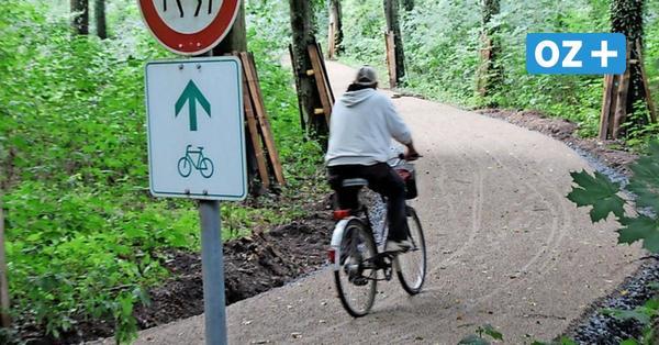 Für 145 000 Euro Fördermittel: Kreis erneuert Radweg im Wolgaster Tannenkamp