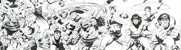 John Buscema - Marvel Heroes Original Comic Art