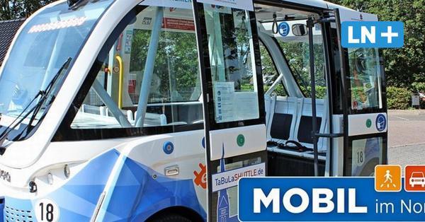 Im autonomen Bus durch die Altstadt von Lauenburg