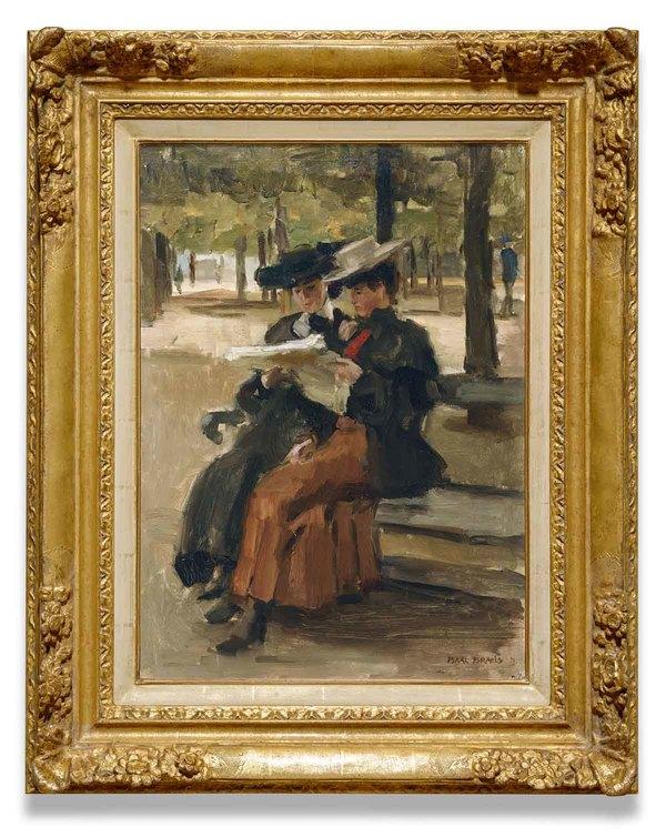 'Bois de Boulogne' 1904 - olieverf op doek: Isaac Israels (herkomst: coll. Kunsthandel Albricht)