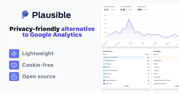 Plausible Analytics — Privacy friendly web analytics