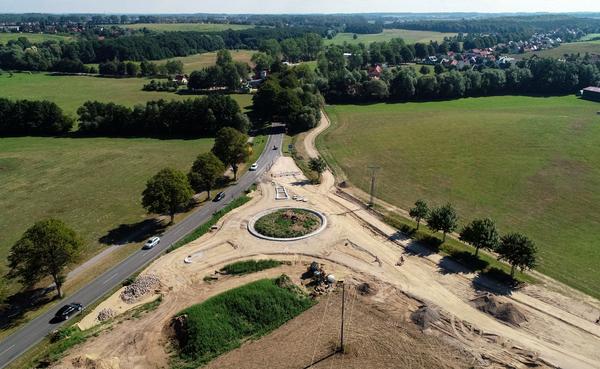 Kreisverkehrbau zwischen Wittenbeck und Kühlungsborn (Foto: Rolf Barkhorn)