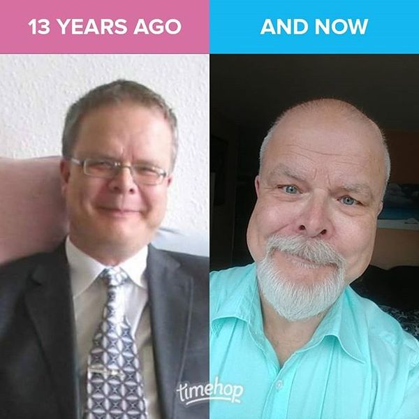 The obligatory comparison from my first profile on Facebook to now