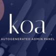 koa just got a beautiful, auto-generated admin panel. - DEV