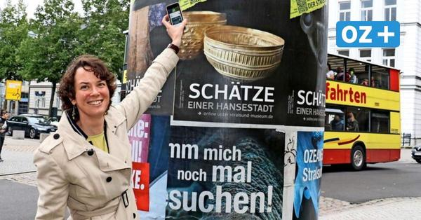 Stralsund: Museum zeigt während Umbaus Exponate auf Plakaten