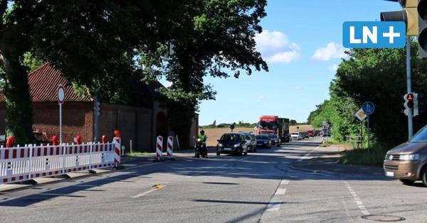 Wegen Bauarbeiten: Stau auf der B 76 bis nach Eutin hat bald ein Ende