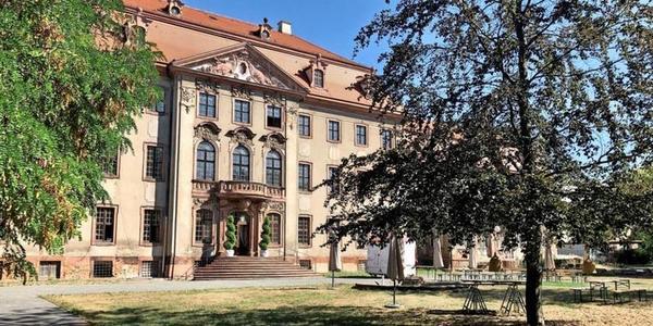 Schloss Brandis, Parkseite. Foto: Ines Alekowa