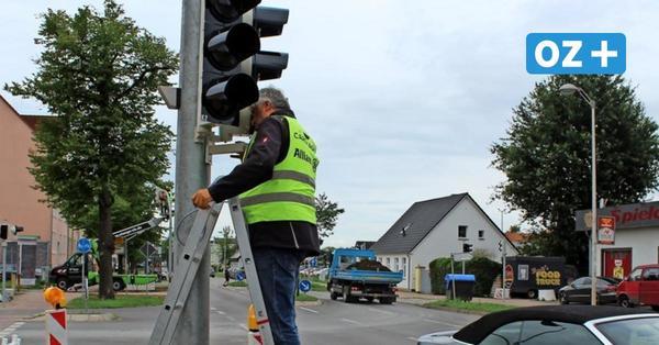 Neue Ampel in Greifswalds Fettenvorstadt installiert