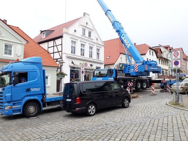 Baustelle am Markt in Bergen (Foto: Uwe Driest)