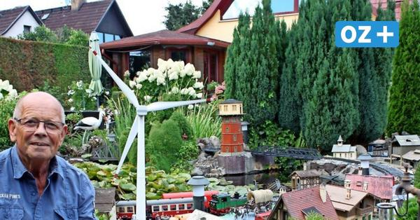 Früherer Zinnowitzer Zeltplatzchef Peter Gebser besitzt riesige Gartenbahn