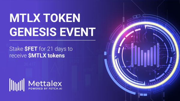 MTLX token distribution starts September 8th, stake FET to receive MTLX rewards