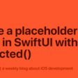 Make A Placeholder View In SwiftUI With Redacted()