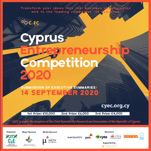 Cyprus Entrepreneurship Competition CYEC2020   Submission Deadline 14th September 2020