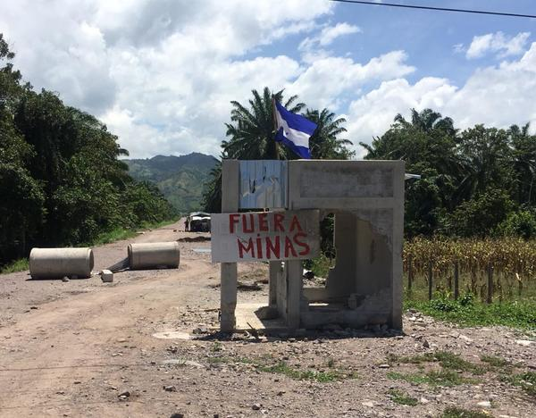"""Photo from the Guapinol Community, Honduras, where mining company """" Inversiones Los Pinares"""" settled in, despite the rejection of the population."""