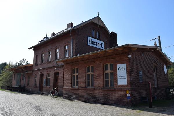 Der Bahnhof Klasdorf ist ein guter Ausgangspunkt für die Wanderung. Foto: Christian Zielke