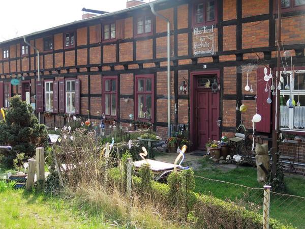 Idyllisches Museumsdorf Baruther Glashütte. Foto: Jutta Abromeit