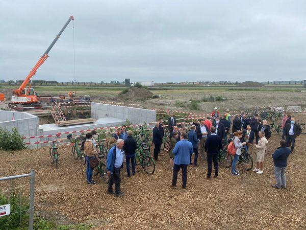 Une nouvelle station de pompage d'urgence dans les Moëres - Nieuw noodpompgemaal in de Moeren