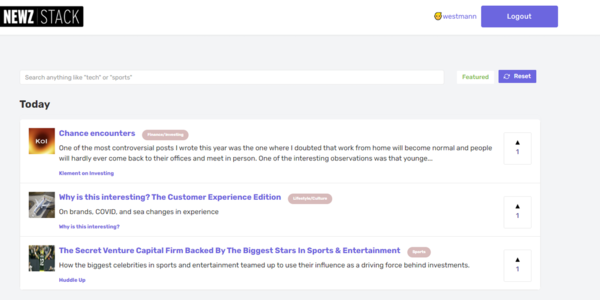NewzStack - Newsletters, curated | Product Hunt