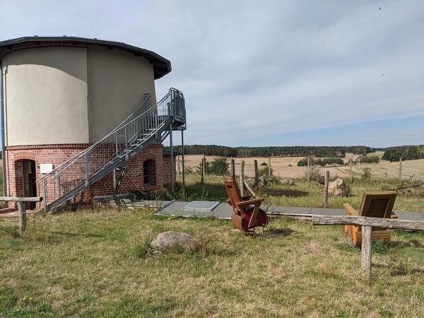 Vom Wasserturm in Garrey hat man eine schöne Aussicht. Foto: Lars Sittig