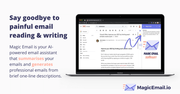 Magic Email: An intelligent email assistant