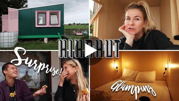 KAAG EN BRAASSEM - Op de tandem & glampen in een Hihahut met Julia en Luuk (video)