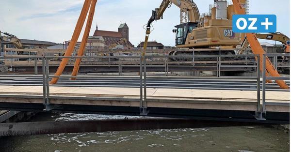 Wismars größte Baustelle: Schwebende Eisenbahnbrücke sorgt für Aufsehen