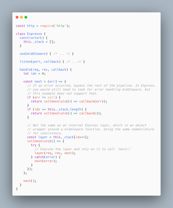 How `handle()` works