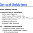 Download my Highlighted Copy of Google's Quality Rater Guidelines