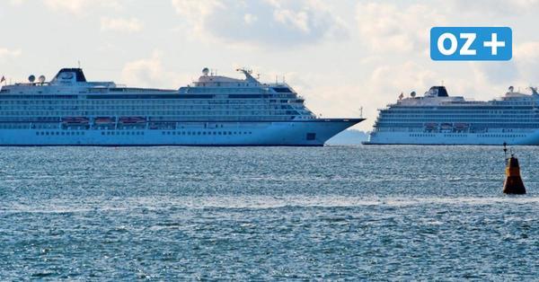 Rügen: Darum liegen zwei Kreuzfahrtschiffe von Viking Ocean Cruises vor Mukran