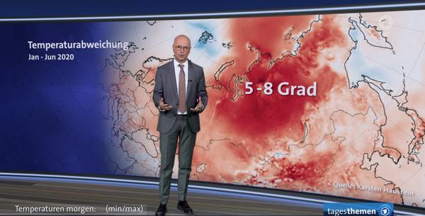 Karsten Schwanke in den Tagesthemen. Screenshot: ARD / Das Erste