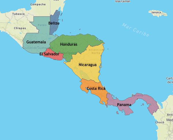 Our interactive COVID-19 Map for all seven countries in Central America