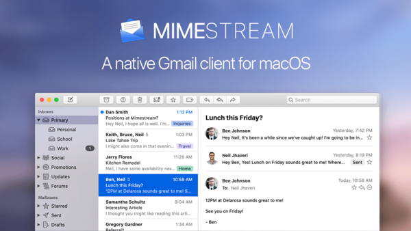 Mimestream — Native macOS email client for Gmail